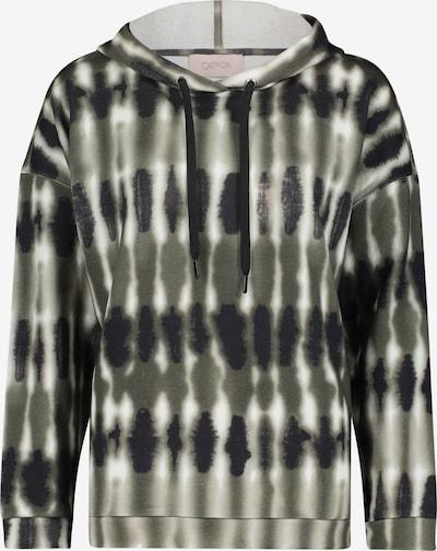 Cartoon Sweatshirt in graphit / oliv / weiß, Produktansicht