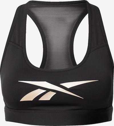 REEBOK Sport-BH in beige / schwarz, Produktansicht