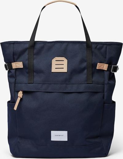 SANDQVIST Backpack 'ROGER' in Beige / Dark blue, Item view