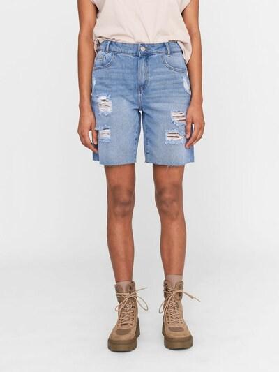 Noisy may Shorts in blue denim, Modelansicht
