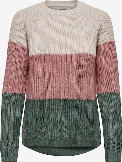 ONLY Pullover 'Mantanna' in beige / grün / rosa, Produktansicht