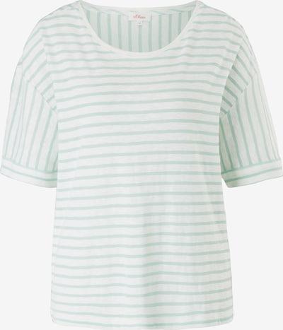 s.Oliver Shirt in jade / weiß, Produktansicht