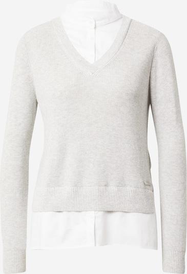 ESPRIT Pullover in hellgrau / weiß, Produktansicht