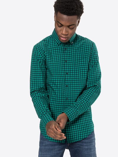 SEIDENSTICKER Риза 'New B.D.' в зелено / черно: Изглед отпред