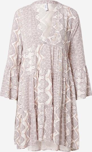 ONLY Kleid 'ROBERTA' in creme / braun / dunkellila, Produktansicht