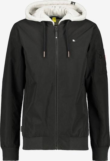 Alife and Kickin Übergangsjacke 'Liam' in schwarz / weiß, Produktansicht