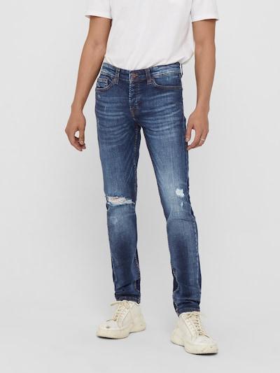 Only & Sons Jean 'LOOM LIFE' en bleu denim, Vue avec modèle