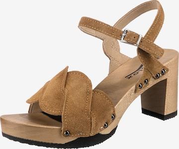 SOFTCLOX Sandale 'Lissy' in Braun