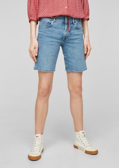 s.Oliver Jeans in de kleur Lichtblauw: Vooraanzicht