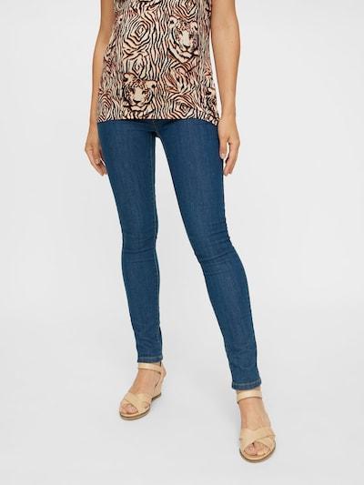 MAMALICIOUS Jeans 'Julia' in blue denim: Frontalansicht
