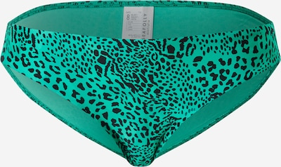 Seafolly Bikini bottom in Jade / Black: Frontal view