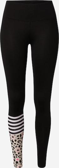 Hey Honey Leggings 'DREAMLAND' in beige / neonpink / schwarz / weiß, Produktansicht