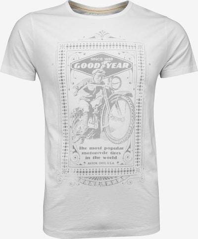 GOODYEAR T-Shirt MOTORCYCLE mit coolem Front-Print in weiß, Produktansicht