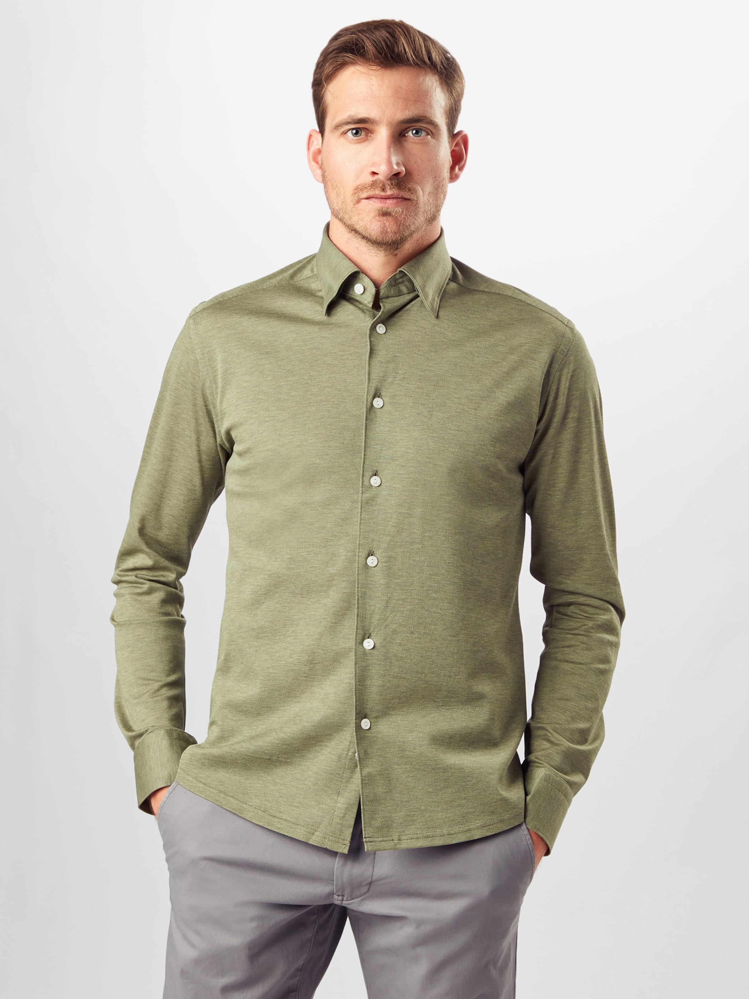 ETON Hemd in grün Baumwolle ETO0009001000001
