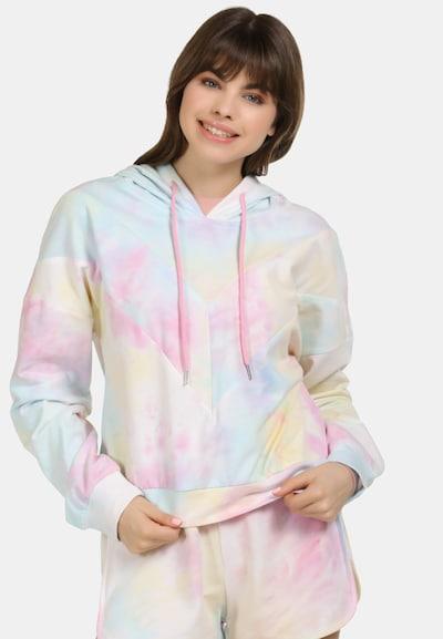 MYMO Pullover in azur / hellgelb / hellpink: Frontalansicht