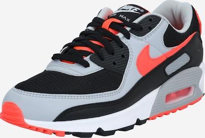 Nike Sportswear Niske tenisice 'Nike Air Max 90' u siva / narančasto crvena / crna, Pregled proizvoda