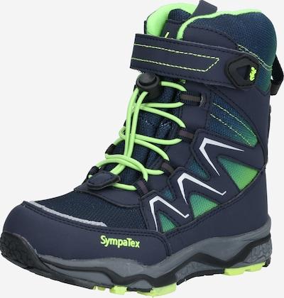 LURCHI Škornji   temno modra / neonsko zelena barva, Prikaz izdelka