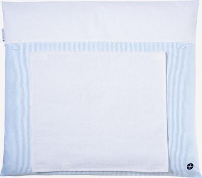 nordic coast company Wickelauflage mit abnehmbarem Frotteehandtuch in blau, Produktansicht