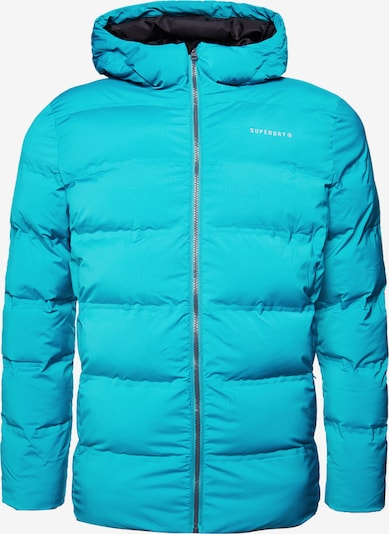 Superdry Outdoorjas in de kleur Lichtblauw, Productweergave
