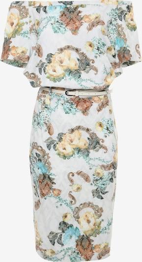 Madam-T Kokerjurk 'CALYPSO' in de kleur Wit, Productweergave