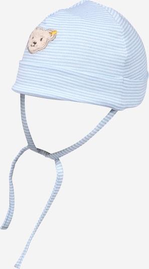 Steiff Collection Czapka w kolorze jasnoniebieski / jasnobrązowy / białym, Podgląd produktu