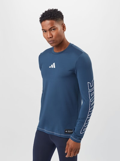 ADIDAS PERFORMANCE Functional shirt in dark blue / white: Frontal view