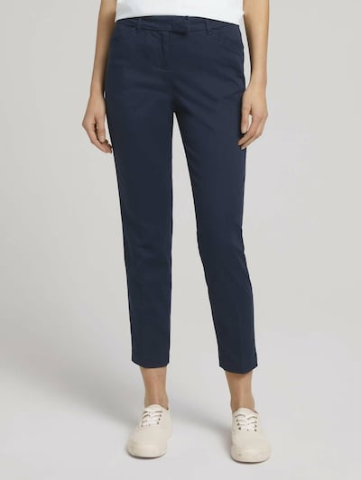 TOM TAILOR Pantalon 'Mia' in de kleur Donkerblauw: Vooraanzicht