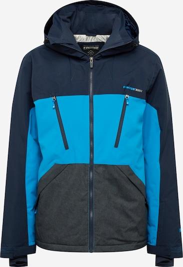 PROTEST Sport-Jacke 'Ultra' in blau / schwarz, Produktansicht