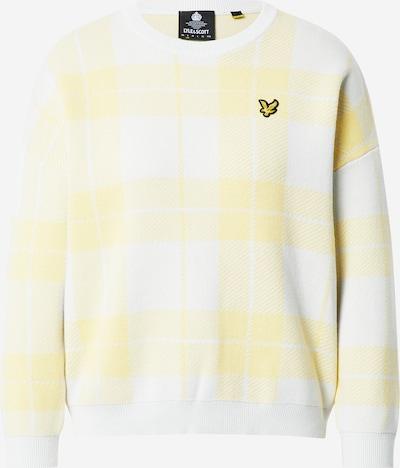 Pullover Lyle & Scott di colore giallo chiaro / bianco, Visualizzazione prodotti