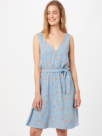Rochie de vară 'KRISTINA LAIA' VILA pe albastru deschis / verde / roz, Vizualizare model