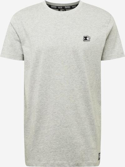Tricou Starter Black Label pe gri amestecat / negru / alb, Vizualizare produs