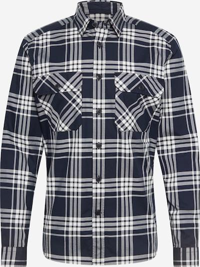 JOOP! Jeans Košulja u tamno plava / bijela, Pregled proizvoda