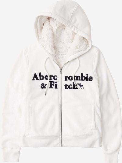 Abercrombie & Fitch Mikina s kapucí - černá / bílá, Produkt