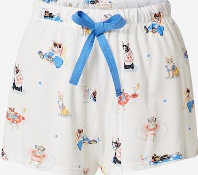 Pantaloni de pijama PJ Salvage pe albastru / verde / roșu / negru / alb natural, Vizualizare produs