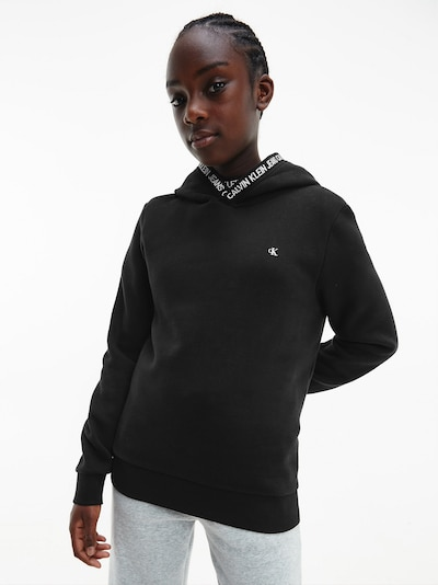 Calvin Klein Jeans Sweatshirt in schwarz / weiß: Frontalansicht