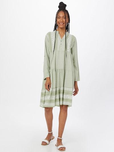ZABAIONE Рокля тип риза 'Eliza' в зелено / бяло, Преглед на модела