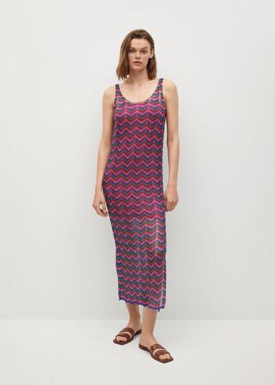 MANGO Kleid 'Honolulu' in dunkelblau / grün / fuchsia / dunkelpink, Modelansicht