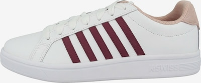 K-SWISS Sneaker ' Court Tiebreak ' in rot / weiß, Produktansicht