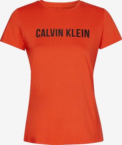 Calvin Klein Performance T-shirt fonctionnel en orange / noir, Vue avec produit