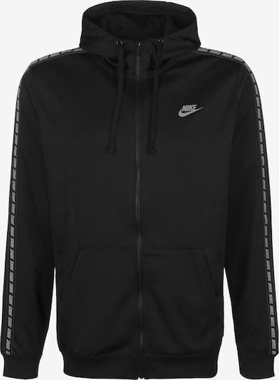 Nike Sportswear Sweatjacke 'NSW Repeat' in schwarz / weiß, Produktansicht