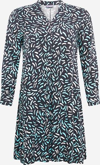 SAMOON Blousejurk 'Kopenhagen' in de kleur Navy / Turquoise / Wit, Productweergave