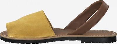 Sandale TAMARIS pe maro / galben, Vizualizare produs