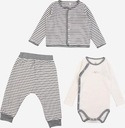 PETIT BATEAU Set in dunkelgrau / weiß, Produktansicht
