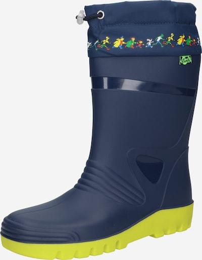 LURCHI Gumáky 'PEER' - námornícka modrá / žltá / kiwi / svetločervená, Produkt