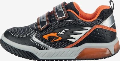 GEOX Kids Sneaker in orange / schwarz / weiß, Produktansicht