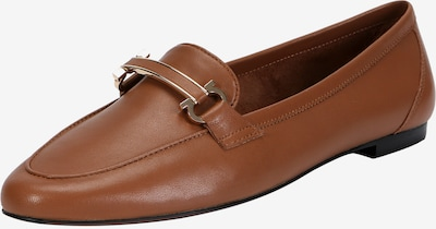 Ekonika Klassische Loafer aus weichem Leder in braun: Frontalansicht