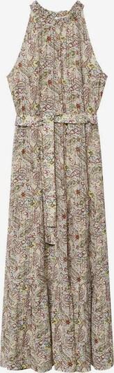 MANGO Kleid 'Zima' in braun / schilf / pastellgrün / mischfarben, Produktansicht