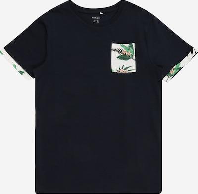 Tricou 'Johan' NAME IT pe albastru noapte / verde limetă / portocaliu piersică / alb murdar, Vizualizare produs