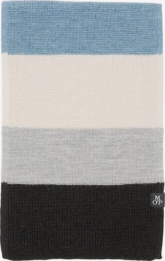 Marc O'Polo Sjaal in de kleur Blauw / Grijs / Zwart / Wolwit, Productweergave