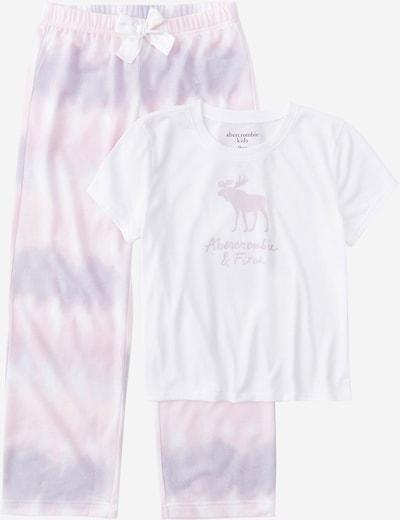 Abercrombie & Fitch Pyjama en violet clair / blanc, Vue avec produit